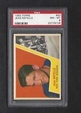 1963 Topps #63 Jean Ratelle, HOF, PSA 8 NM-MT, NY Rangers Vintage Hockey 1963-64