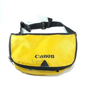 Vintage Canon Yellow Fannypack Hip Bum Bag Camera Accessory Bag