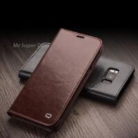 Für Samsung Galaxy S8+ Hülle Leder Etui Case Kartenfach Tasche Schwarz Braun Neu