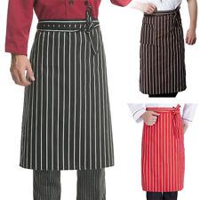 Kitchen Pocket Aprons Half-length Long Waist Apron Catering Chefs Waiter Uniform