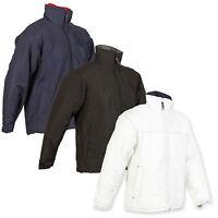Mens US Basic Outdoor Casual Warm Winter Rain Shell Padded Coat Jacket Cagoule