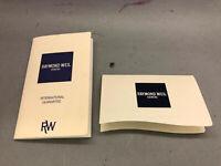 Raymond Weil Geneve International Guarantee Booklet