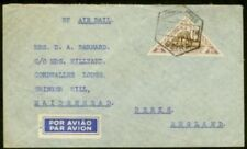 Mozambique Co. 1938 flown cover/Kudu 2e triangular
