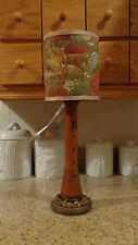 Textile Spool Lighted Lamp/Deer Shade/Rustic/Country/Cabin Decor