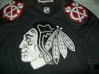 Chicago Blackhawks Jersey mens Medium M Black Ice Reebok Alternate NHL rare