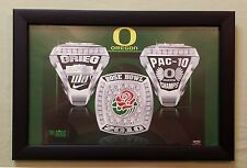 2010 Oregon DUCKS Football Player CHAMPIONSHIP RING POSTER & Frame TEAM ISSUED