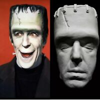 Fred Gwynne Life Mask Cast With Herman Munster Special Effects Makeup Prop RARE!