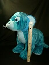 "Teal aqua Blue Tiger Plush Stuffed Animal 19"" Long Jungle Cat Fiesta Toys rare!"