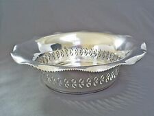 FINE ANTIQUE GERMAN 800 SOLID SILVER/GOTTLIEB KURZ PIERCED LEAF BOWL 150 g