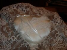 Beautiful Satin Hand Crafted Heart Shaped Pillow-#V5A