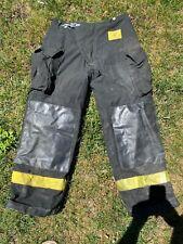 Morning Pride Fire Fighter Turnout Pants 34 X 30 Black Bunker Gear