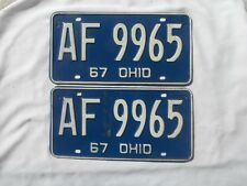 Pair 1969 Ohio License Plate Tag