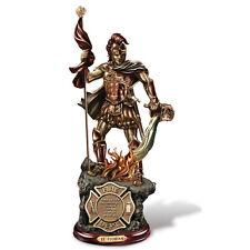 Saint Florian Firefighter Fireman Statue Figurine Bradford Exchange