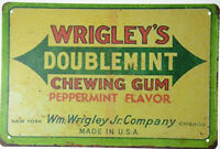 "Wrigley's Chewing Gum Mint Candy Confectionery Retro Metal Tin Sign 12x8"" NEW"