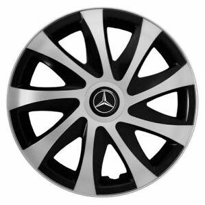 Set of 15'' Wheel trims hub caps fit Mercedes Citan A Class  - black /silver