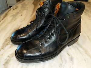 """Cole Haan Lace Up Black Leather """" SAMPLE""""  Boots. Mens Sz 10M. Green Label"""