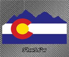 2x Colorado State Flag in Rocky Mountains Vinyl Die Cut Graphic Sticker