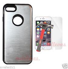 Funda Carcasa para iPhone 7 (4.7) metalica + (Protector opcional) Aluminio Plata