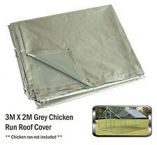 Alphapet 3x2 Grey Waterproof Chicken Run Coop Cage Replacement Rain Roof Cover