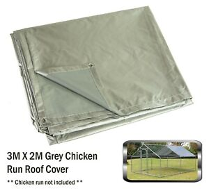 Alphapet 3x2 Grey Waterproof Chicken Run Coop Cage Replacement Rain Roof Cover