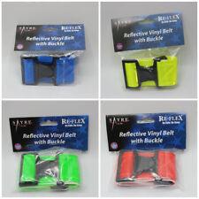 Reflective Vinyl Hi-Vis Jogging Belt w/ Buckle- Yellow, Green, Blue, Red, Orange