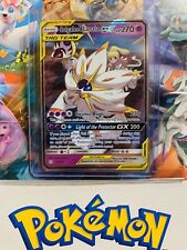ULTRA RARE Solgaleo & Lunala GX 75/236 Tag Team Pokemon SM Cosmic Eclipse - LP