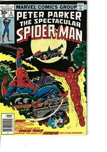 Spectacular Spider-Man  6 Morbius Human Torch  F/VF 1977 Glossy