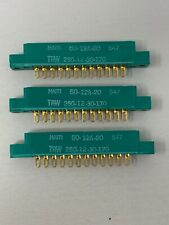 Lot of 3 TRW Cinch 250-12-30-170 12 Pin Gold Card Edge Connectors NEW
