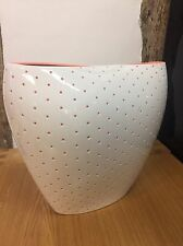 Alessi Aldo Vase In White Design by Doriana e Massimiliano Fuksas FM22 W REDUCED