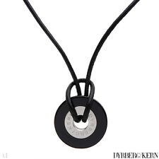 DYRBERG/KERN of DENMARK! TRISTIAN Collection Necklace in Black Leather
