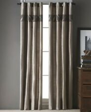 $110 Bryan Keith Cape Town 40 x 84 Chocolate Pair Grommet Window Panel Curtains