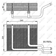 Evaporator Air Conditioning - NRF 36151
