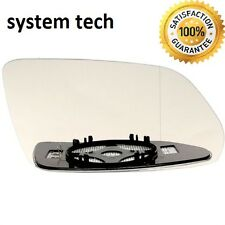 Right Driver Side WIDE ANGLE HEATED WING DOOR MIRROR GLASS VW Polo 05-09 Clip On