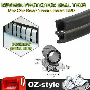 Rubber Edge Seal Trim Strip Car Machine Equipment Edge Install Scratch Proof 3Ms