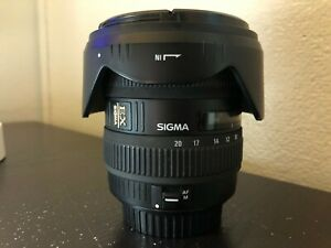 Sigma EX 10-20mm F/4-5.6 HSM DC EX Lens For CANON