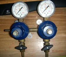 North American Co2 Compressed Gas Regulator Double Gauges Asg gauges ex cond.