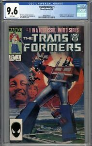 Transformers #1 CGC 9.6 NM+ Origin & 1st App of the Autobots and Decepticons WP