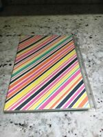 Striped Note Book With Protective Cover Ideal Gift For Cooking Fans