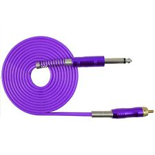 2.5M 1PC FLEXIBLE SILICONE RCA CLIP CORD FOR TATTOO POWER SUPPLY