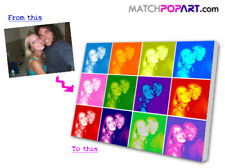 Canvas Print Your Photo Converted to POP ART & Printed to CANVAS