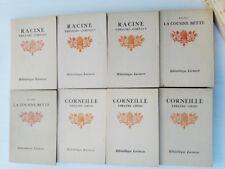 Lot de 20 livres Bibliothèque Larousse années 20 Racine Balzac Molière Corneille