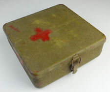 Surplus Chinese Army Military Storage Box Medical kit Steel Tool Case 8x8x2.75''
