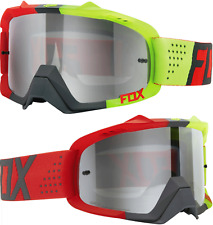 Fox Air Defence Motocross MX Goggles Libra Red Yellow Silver SPK Mirror Tear-off