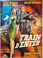 Plakat Kino Geburtstagszug Hölle Jean Marais - 120 X 160 CM