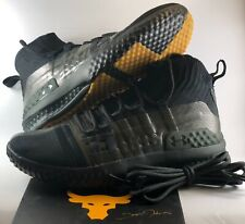 NEW Under Armour UA Project Rock 1 Shoes Green Black / 3020788-002 / Sz 8