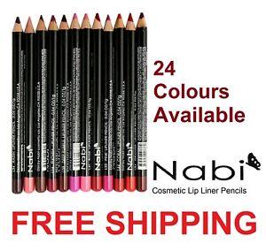 Nabi Lip Liner Super Soft Creamy Sharpenable Pencil Brand New #CHOOSE UR COLOUR