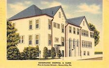 Grove City PA~Osteopathic Hospital & Clinic~Dr Said Feet Getting Good~1960 Linen