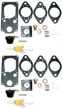 Brosol / Solex H40/44EIS KADRON Carburetor Rebuild kit W/ Floats, For 2 Carbs