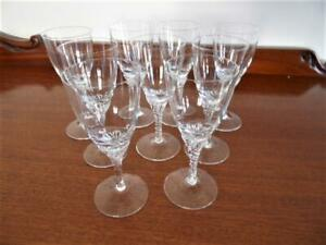 9 x Vintage Twist stem footed sherry Liqueur bar party glass glasses
