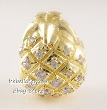 GOLDEN PINEAPPLE Authentic PANDORA SHINE Yellow GOLD Plated Charm 767904CCZ NEW